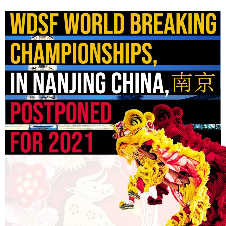 WDSF World Breaking Championships postponed to 2021