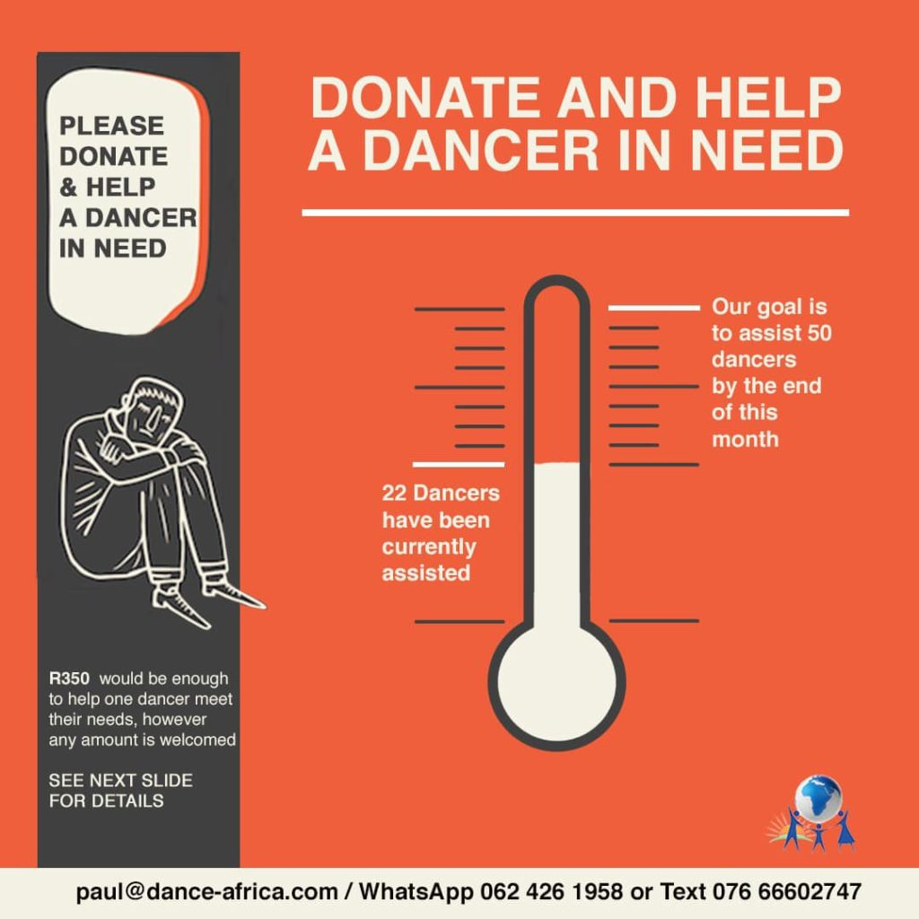 Dance Feeding Scheme in Johannesburg. Help dancers get food during the Covid-19 lock-down.