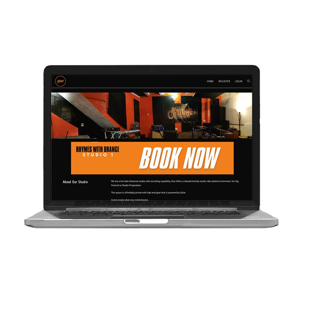 Rhymes with Orange - Recording Studio Rehearsal Band Web Development & Design